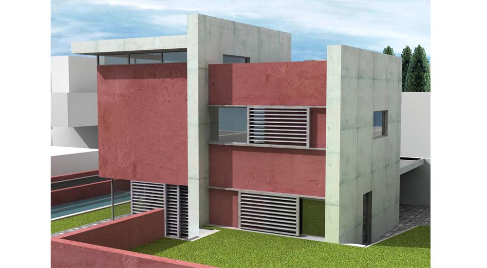Casa in cemento a vista